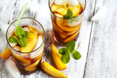 Peach Ice Tea Stock Image