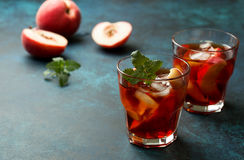 Peach ice tea Royalty Free Stock Images