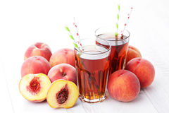Peach ice tea Stock Photo