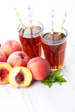 Peach ice tea Stock Images
