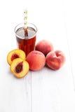 Peach ice tea Stock Photography