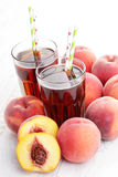 Peach ice tea Royalty Free Stock Image