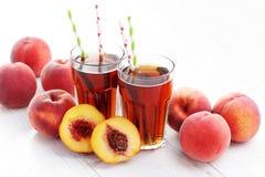 Peach ice tea Royalty Free Stock Photo