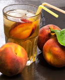 Peach iced tea Royalty Free Stock Images
