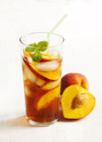 Peach Iced Tea Stock Photography
