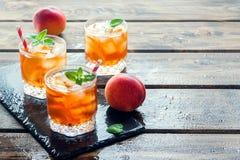 Peach iced tea Stock Image