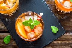 Peach iced tea Royalty Free Stock Photography