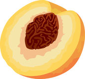 Peach icon Stock Photography