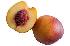 Peach isolate on a white background.  Stock Image