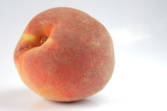 Peach isolated. On white stock photography