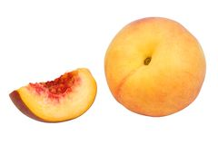 Peach isolated. On white background Royalty Free Stock Images