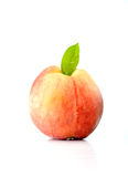 Peach isolated. On the white backgound Royalty Free Stock Photo