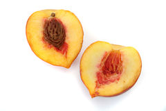 Peach Isolated Royalty Free Stock Photography