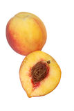 Peach Isolated Royalty Free Stock Photo