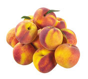 Peach on isolated background Stock Image