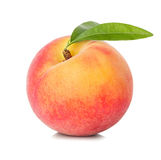 Peach Isolated On White Royalty Free Stock Photos