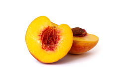 Free Peach Isolated On White Stock Photo - 6319400