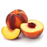 Peach isolated on white background Stock Photography