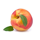 Peach isolated on white Royalty Free Stock Image