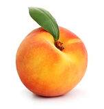 Peach isolated. On white background stock photography