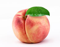 Peach isolated on  white background Royalty Free Stock Photos