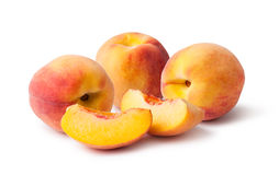 Peach. Isolated on white background stock photo