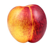 Peach isolated on white. Background Stock Image