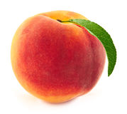 Peach isolated on white background Royalty Free Stock Image