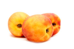 Peach isolated on white. Ripe sweet peach isolated on white background Stock Image