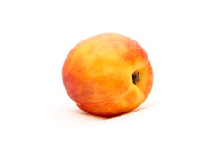 Peach isolated on white. Ripe sweet peach isolated on white background Royalty Free Stock Images
