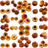 Peach  isolated on white. Royalty Free Stock Image
