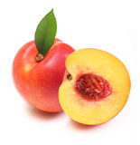 Peach isolated Stock Photos