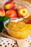 Peach jam Stock Image