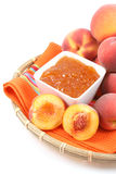 Peach jam Stock Photography