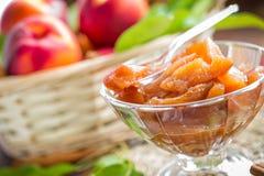 Peach jam Stock Photos