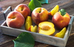 Peach jam and fresh peaches Royalty Free Stock Photo