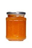 Peach jam glass jar Royalty Free Stock Image