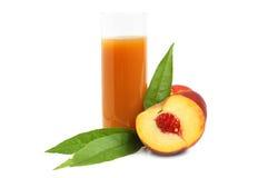 Peach juice Stock Photos
