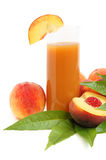 Peach juice Stock Photos