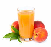 Peach juice Stock Photo