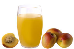 Peach juice Stock Photography