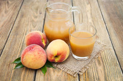 Peach juice Stock Image