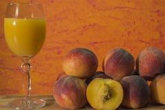 Peach juice Royalty Free Stock Image
