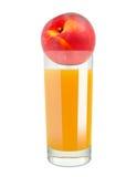 Peach juice Stock Photo
