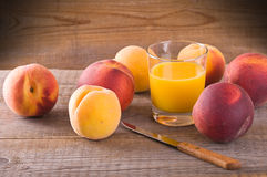 Peach juice. Royalty Free Stock Photography