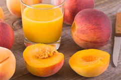 Peach juice. Stock Photo