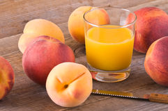 Peach juice. Royalty Free Stock Images