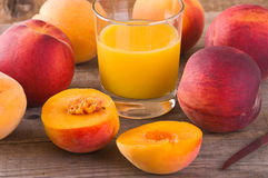 Peach juice. Stock Photography