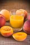 Peach juice. Stock Image