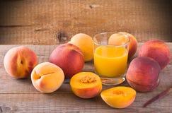 Peach juice. Royalty Free Stock Image